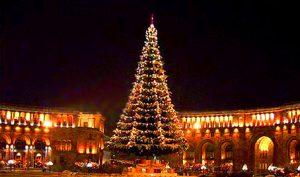 Árvore de Natal em Yerevan