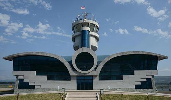 Terminal de passageiros do aeroporto de Stepanakert, em Artsakh