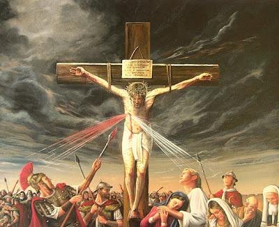 Resultado de imagem para jesus sendo furado na cruz