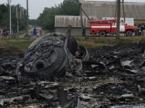 Destroços do Boeing-777 da Malaysia Airlines