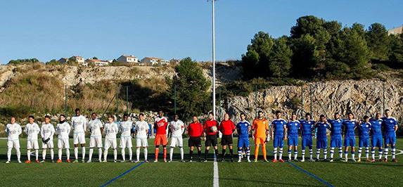 Seleção da Armênia Ocidental de uniforme azul