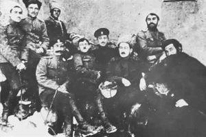 Combatentes armênios na batalha de Sardarabad