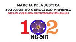 Armênios realizam protesto pelo reconhecimento do genocídio no dia 26/04 em frente ao Consulado da Turquia em SP no dia 26